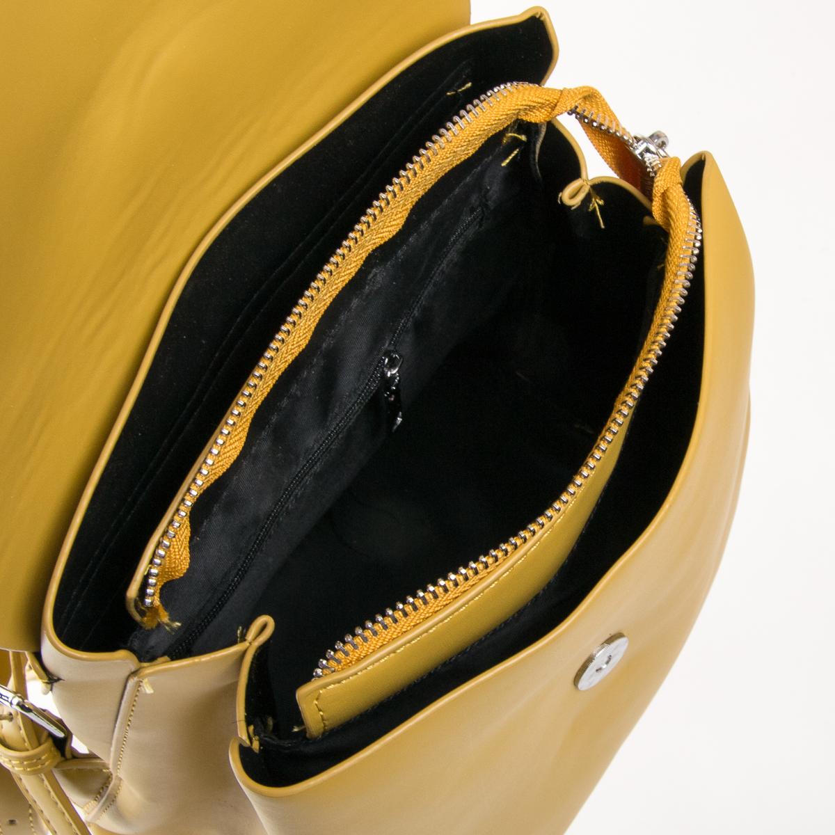 Сумка Женская Рюкзак иск-кожа FASHION 01-04 6151 yellow - фото 5