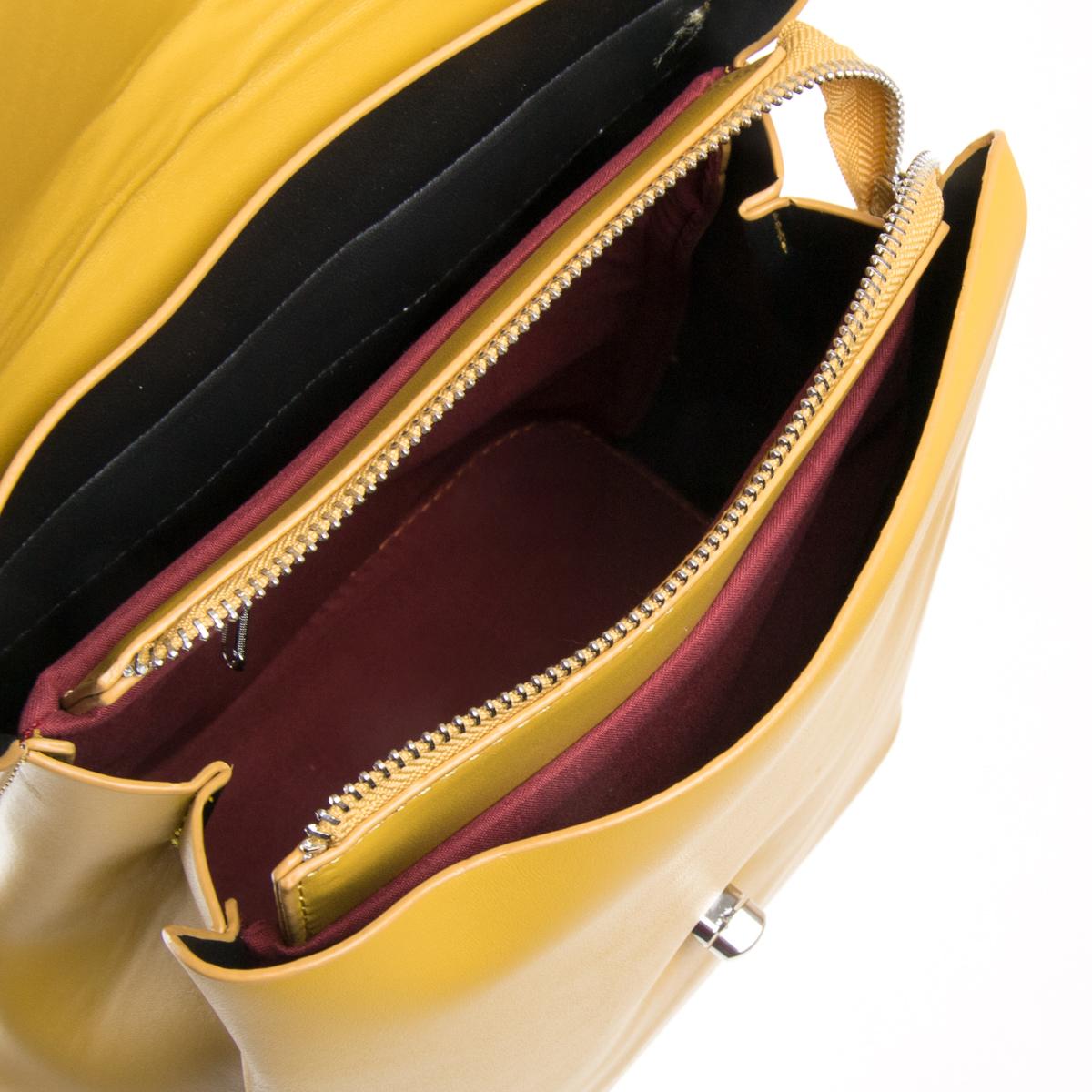 Сумка Женская Рюкзак иск-кожа FASHION 01-04 9901 yellow - фото 5
