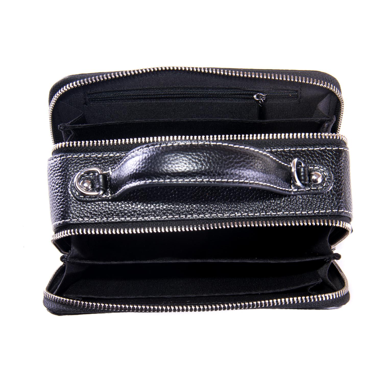 Сумка Женская Клатч кожа ALEX RAI 1-02 29017- black - фото 4