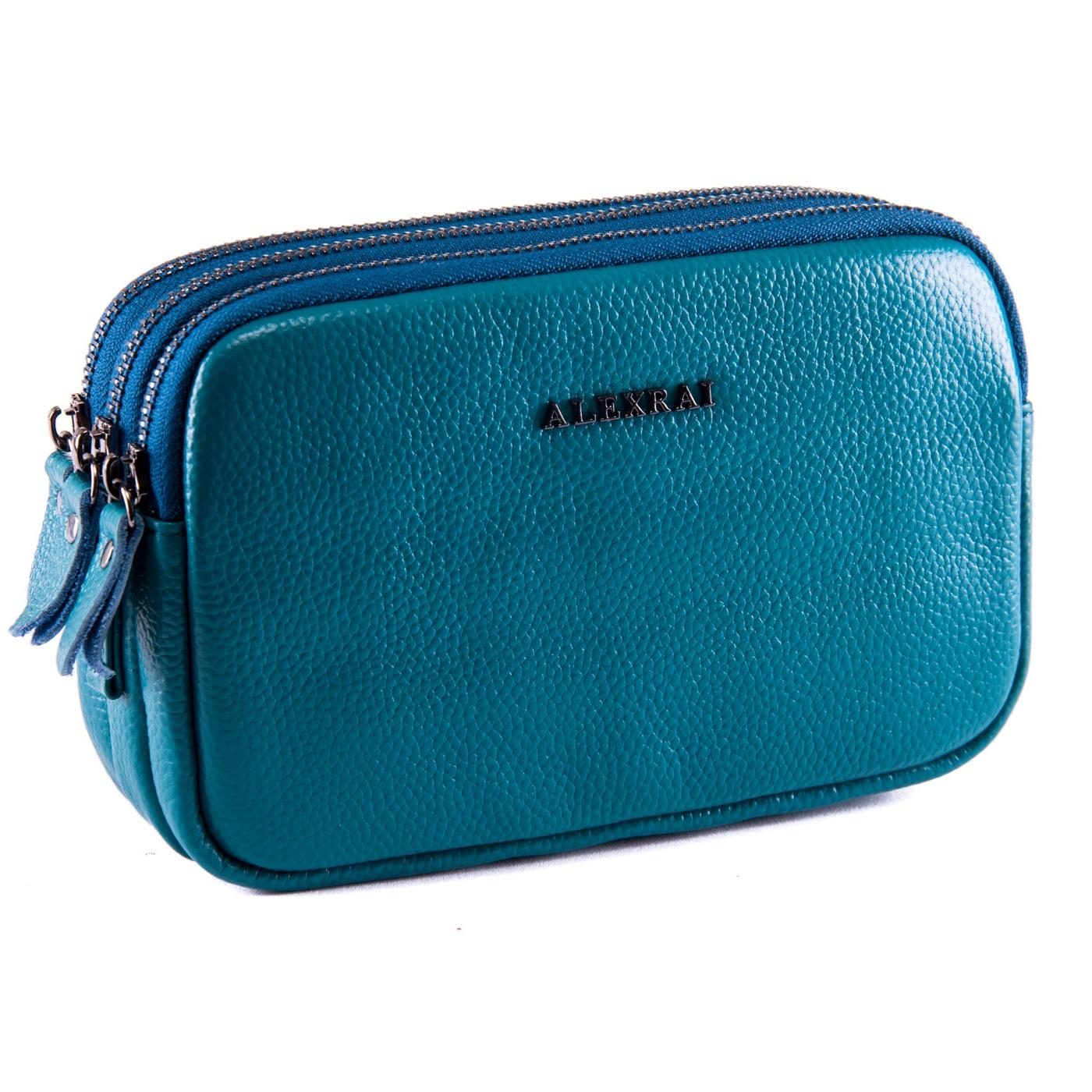 Сумка Женская Клатч кожа ALEX RAI 1-02 60061-13 blue