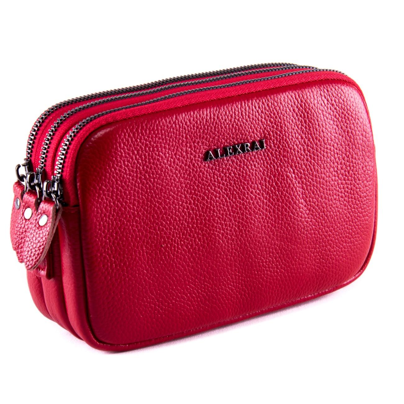 Сумка Женская Клатч кожа ALEX RAI 1-02 60061-8 red