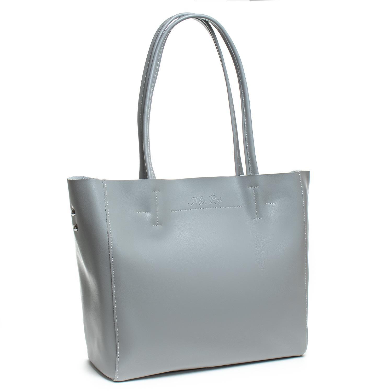 Сумка Женская Классическая кожа ALEX RAI 07-01 8630 l-grey