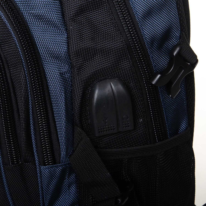 Рюкзак Городской нейлон Power In Eavas 7873 black-blue - фото 3