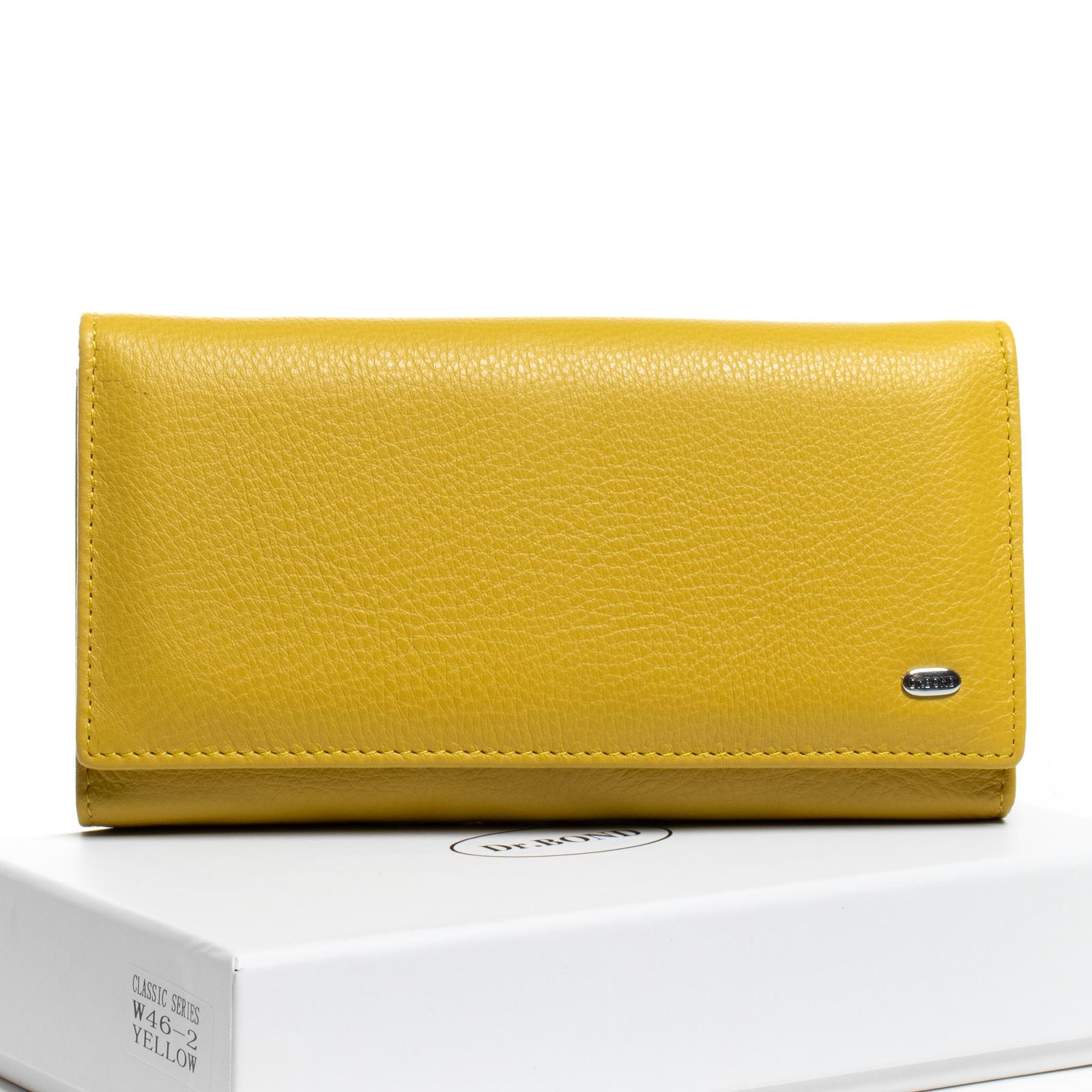 Кошелек Classic кожа DR. BOND W46-2 yellow