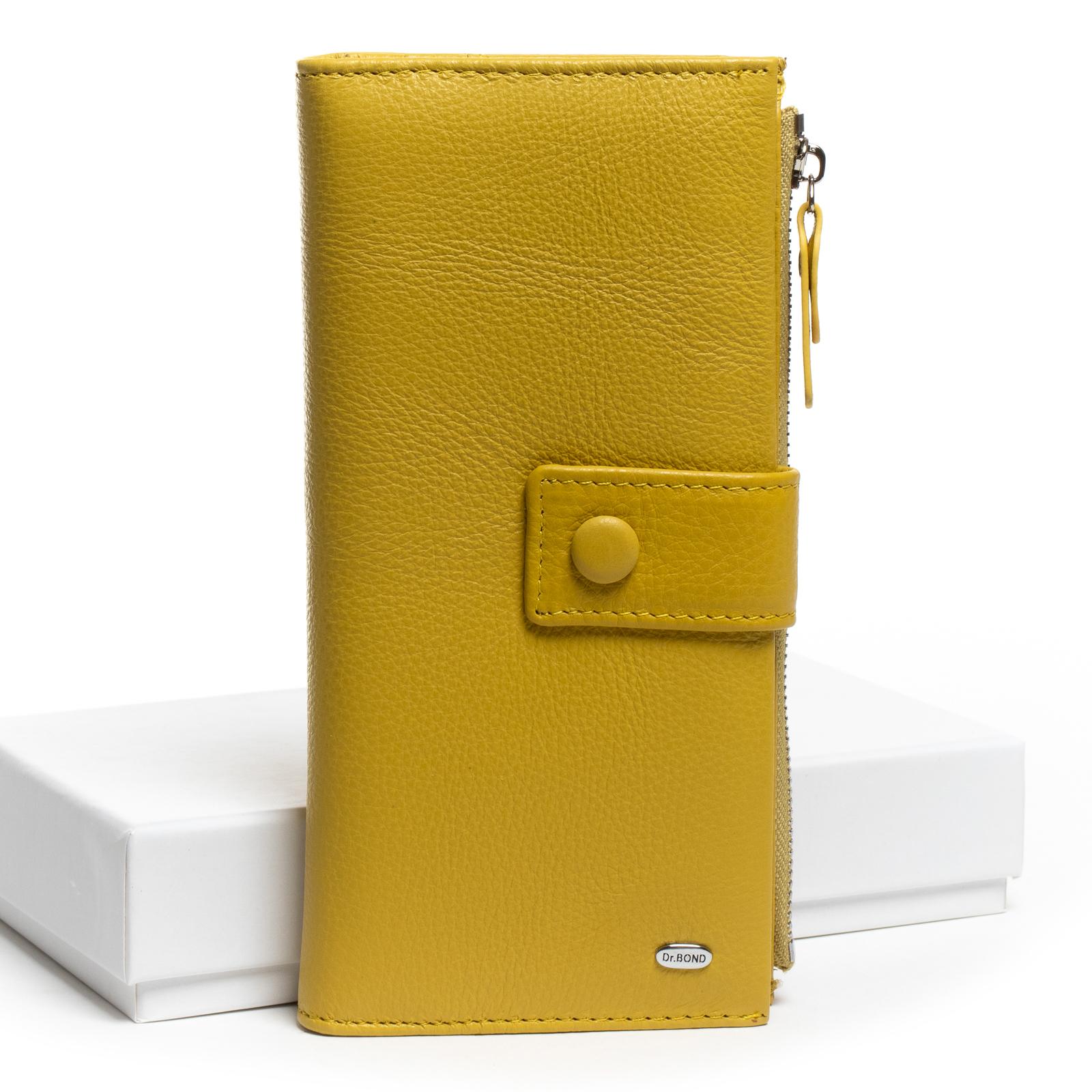 Кошелек Classic кожа DR. BOND WMB-1 yellow