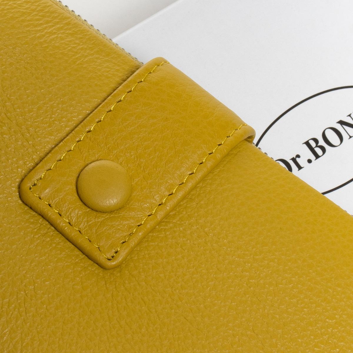 Кошелек Classic кожа DR. BOND WMB-1 yellow - фото 4