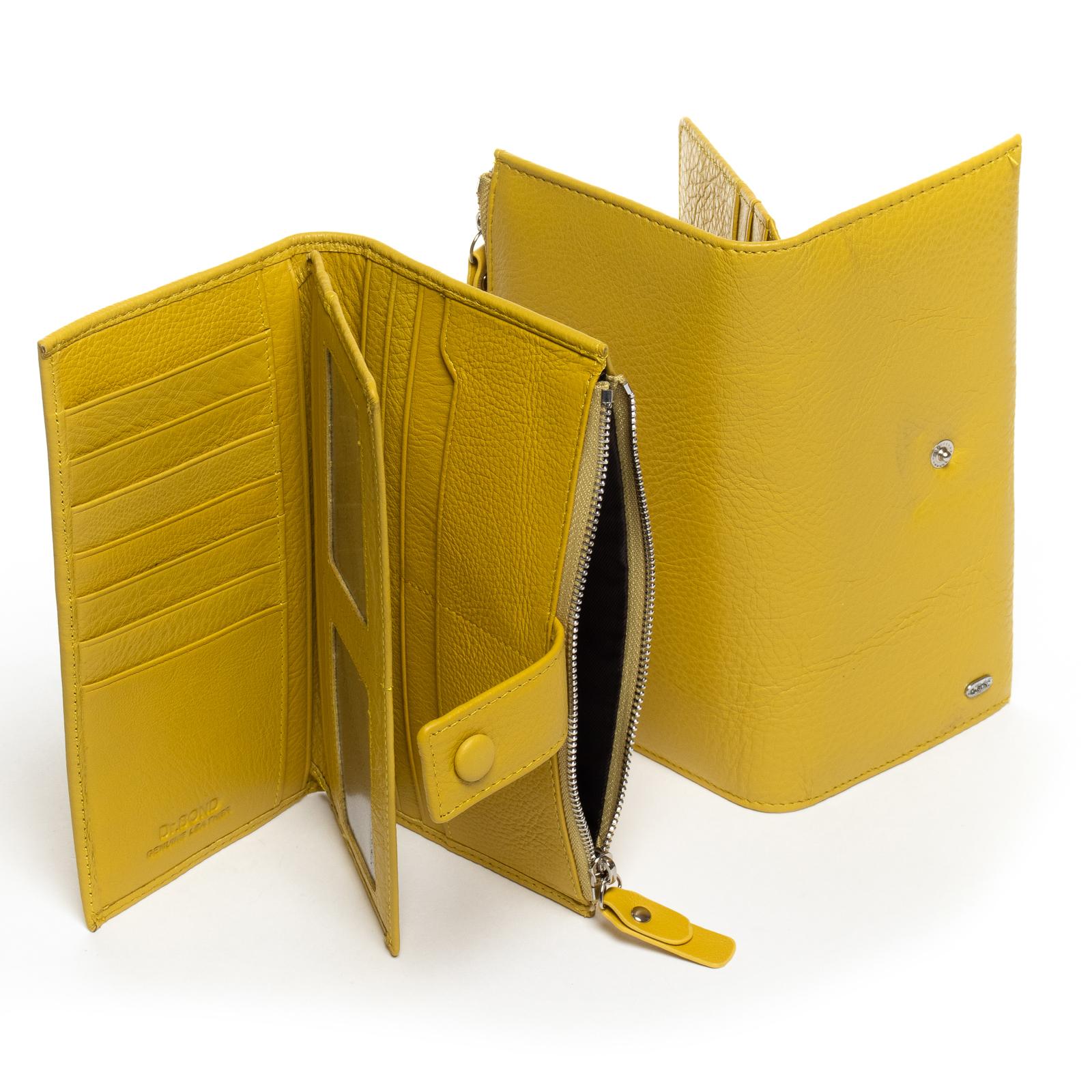 Кошелек Classic кожа DR. BOND WMB-1 yellow - фото 3