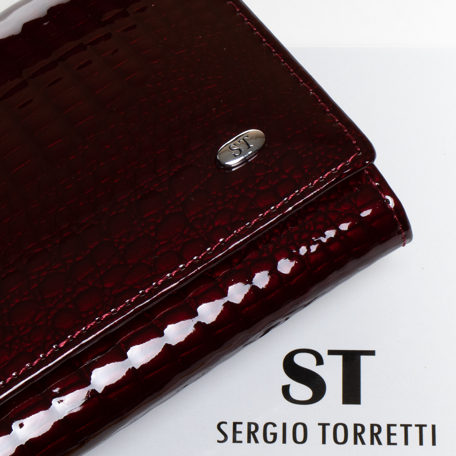 Кошелек LR кожа-лак SERGIO TORRETTI W501-2 bordo - фото 3