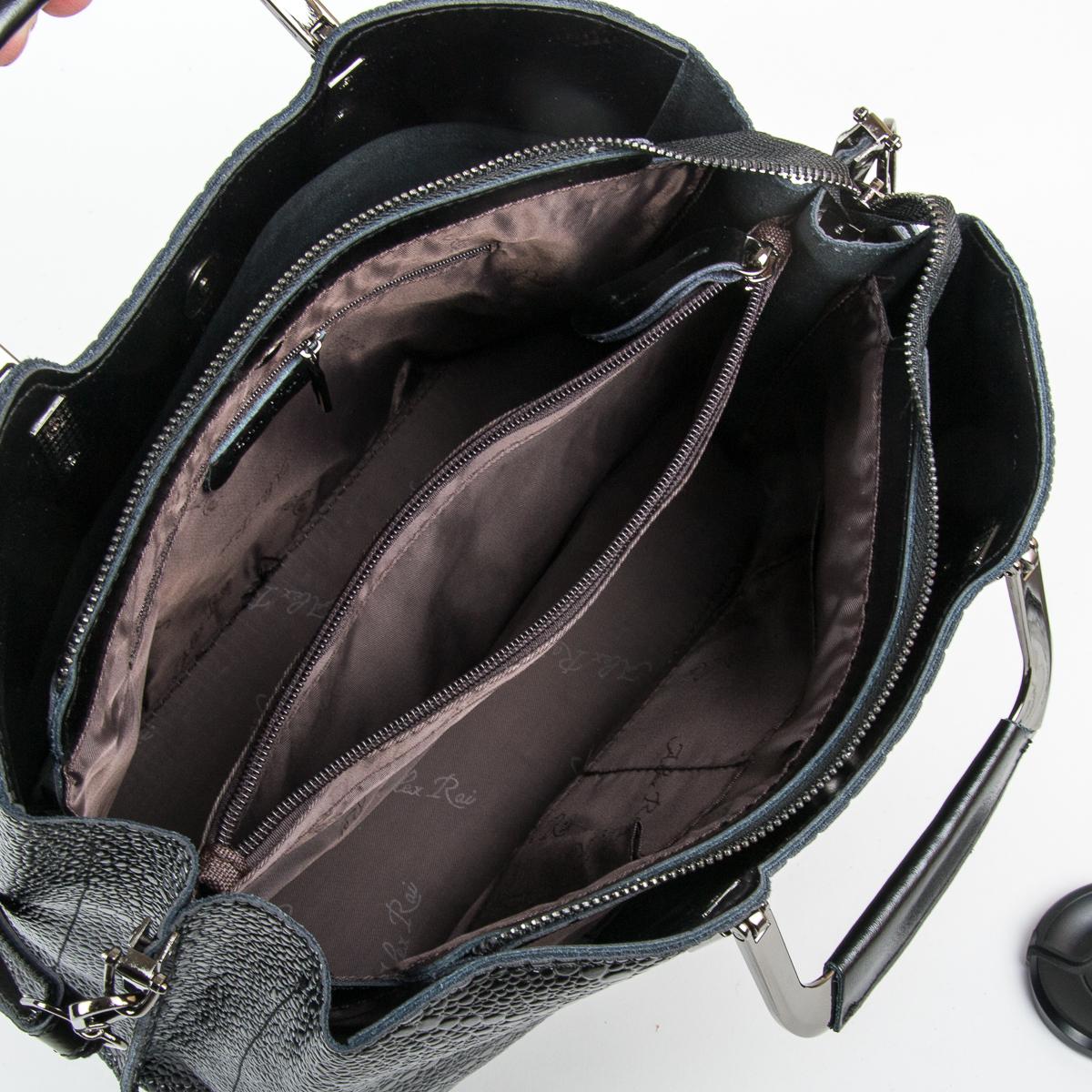 Сумка Женская Классическая кожа ALEX RAI 05-01 1540-1 black - фото 5