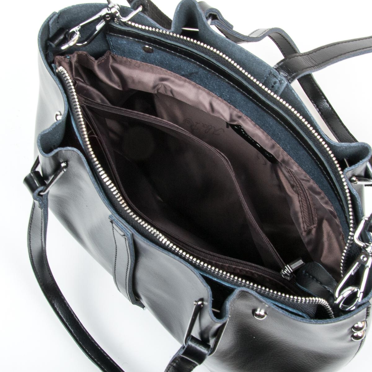 Сумка Женская Классическая кожа ALEX RAI 05-01 317 black - фото 5