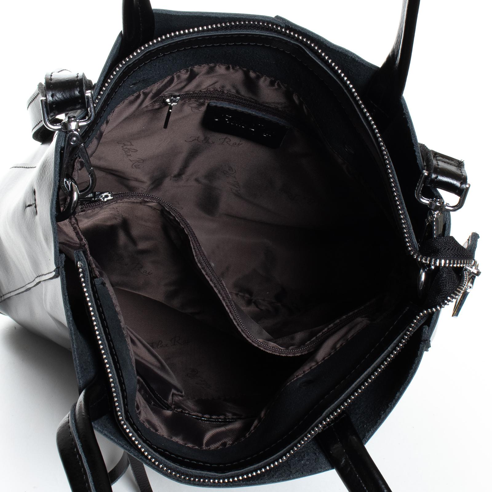 Сумка Женская Классическая кожа ALEX RAI 07-03 8773 black - фото 5