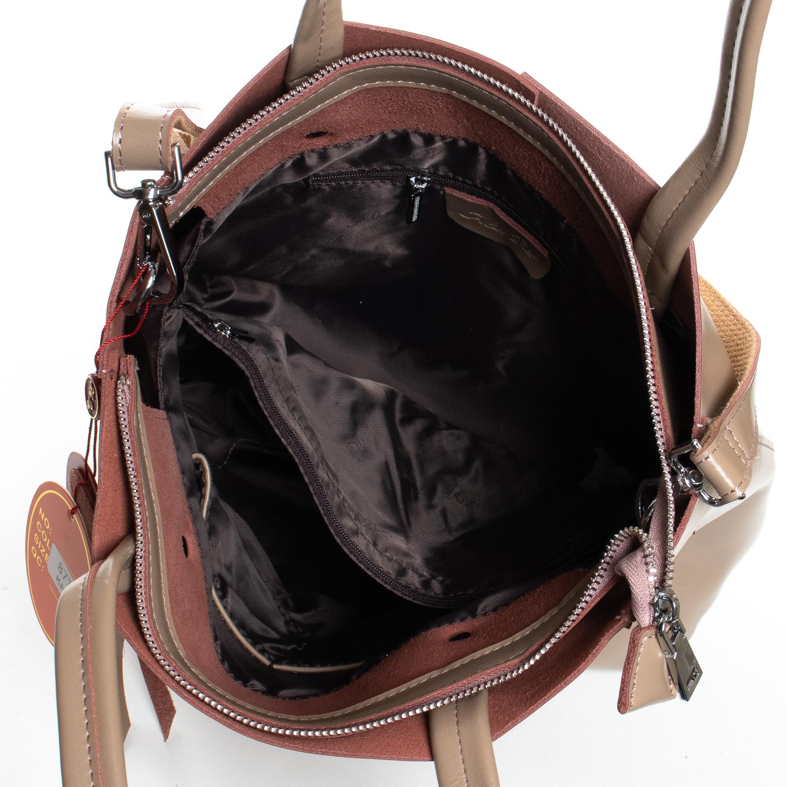 Сумка Женская Классическая кожа ALEX RAI 07-03 8773 khaki - фото 5