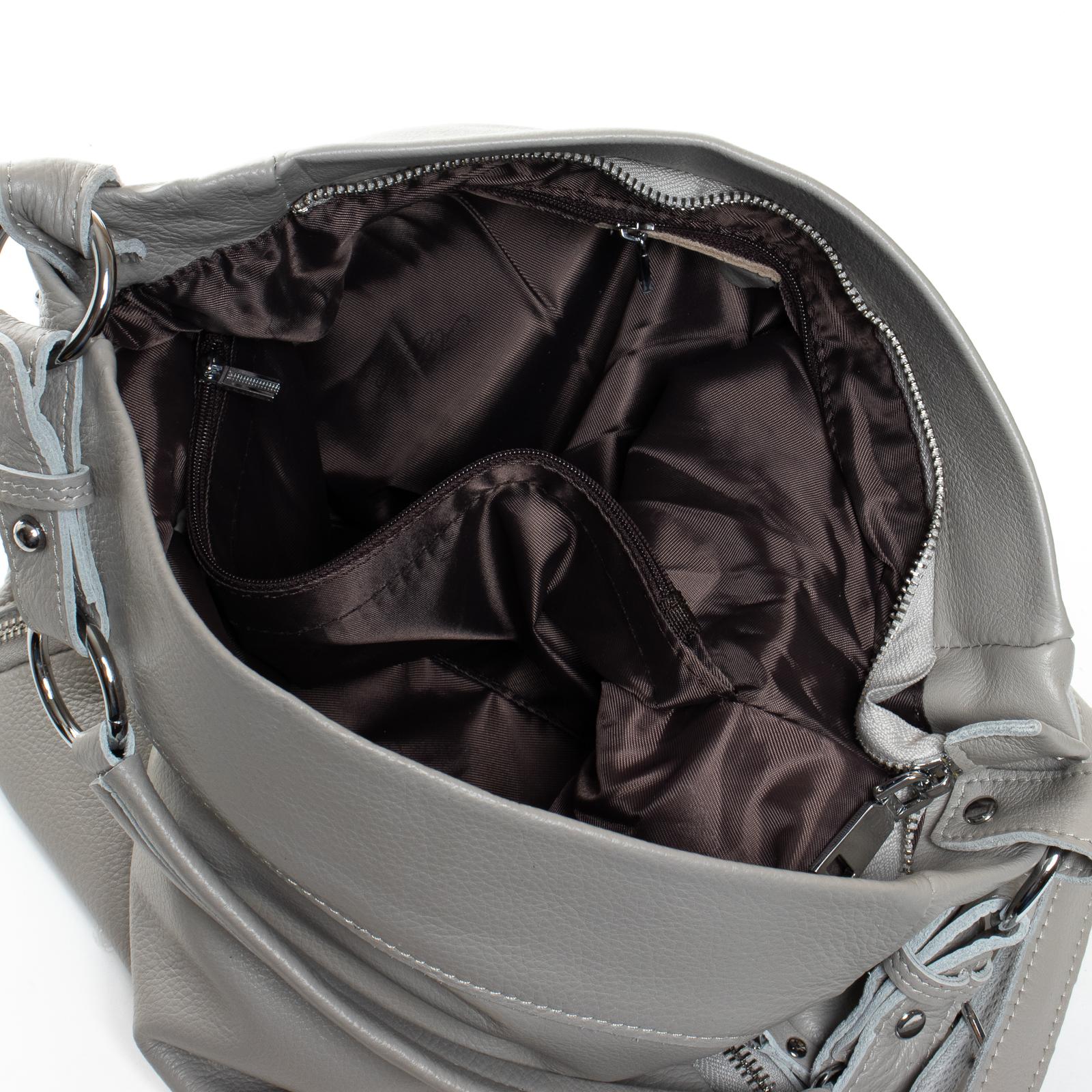 Сумка Женская Классическая кожа ALEX RAI 07-03 8779-9 grey - фото 5