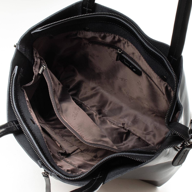 Сумка Женская Классическая кожа ALEX RAI 07-02 8704-220 black - фото 5