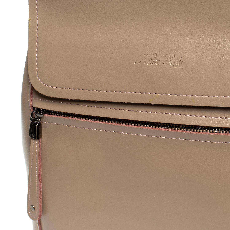 Сумка Женская Рюкзак кожа ALEX RAI 1005 khaki - фото 3