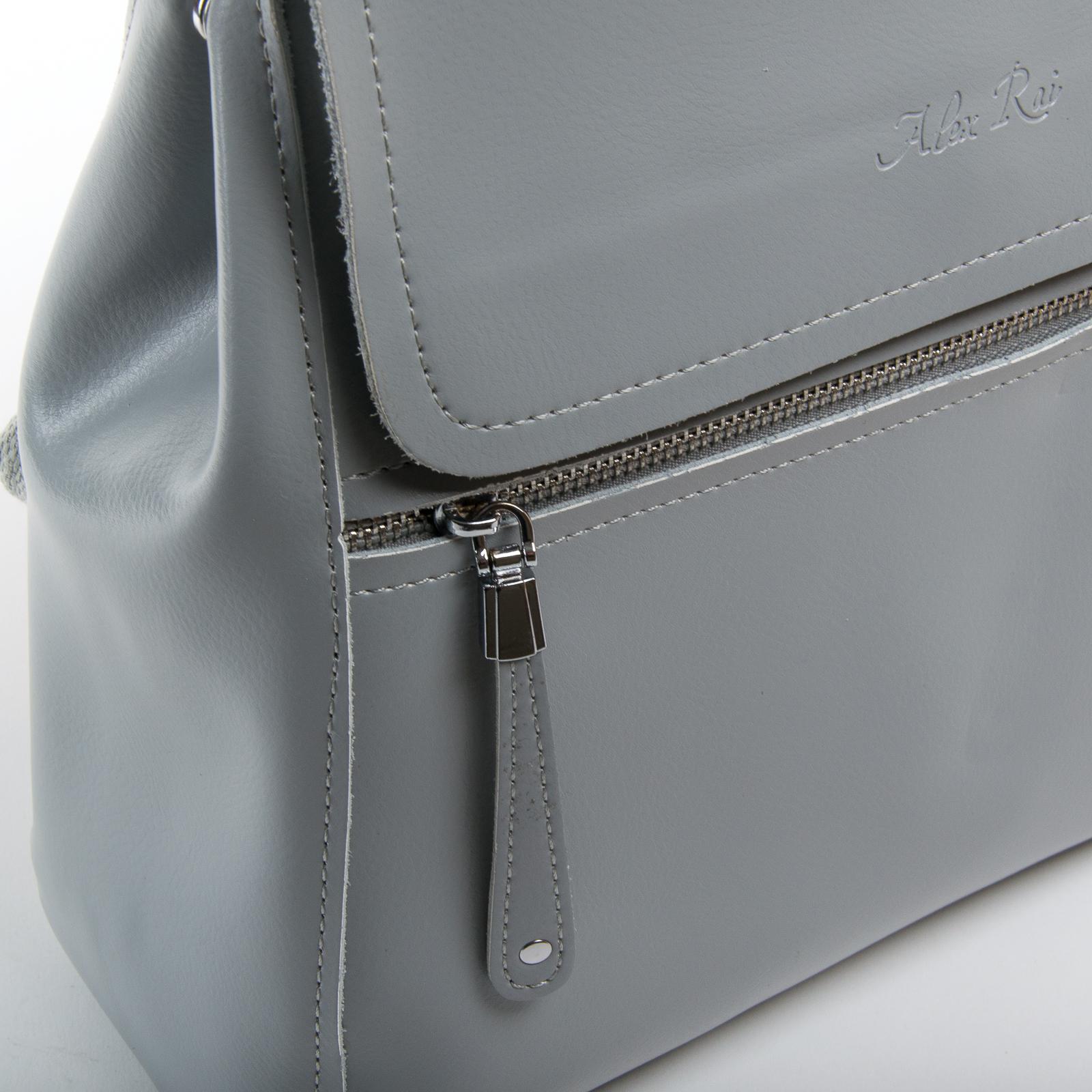 Сумка Женская Рюкзак кожа ALEX RAI 1005 l-grey - фото 3