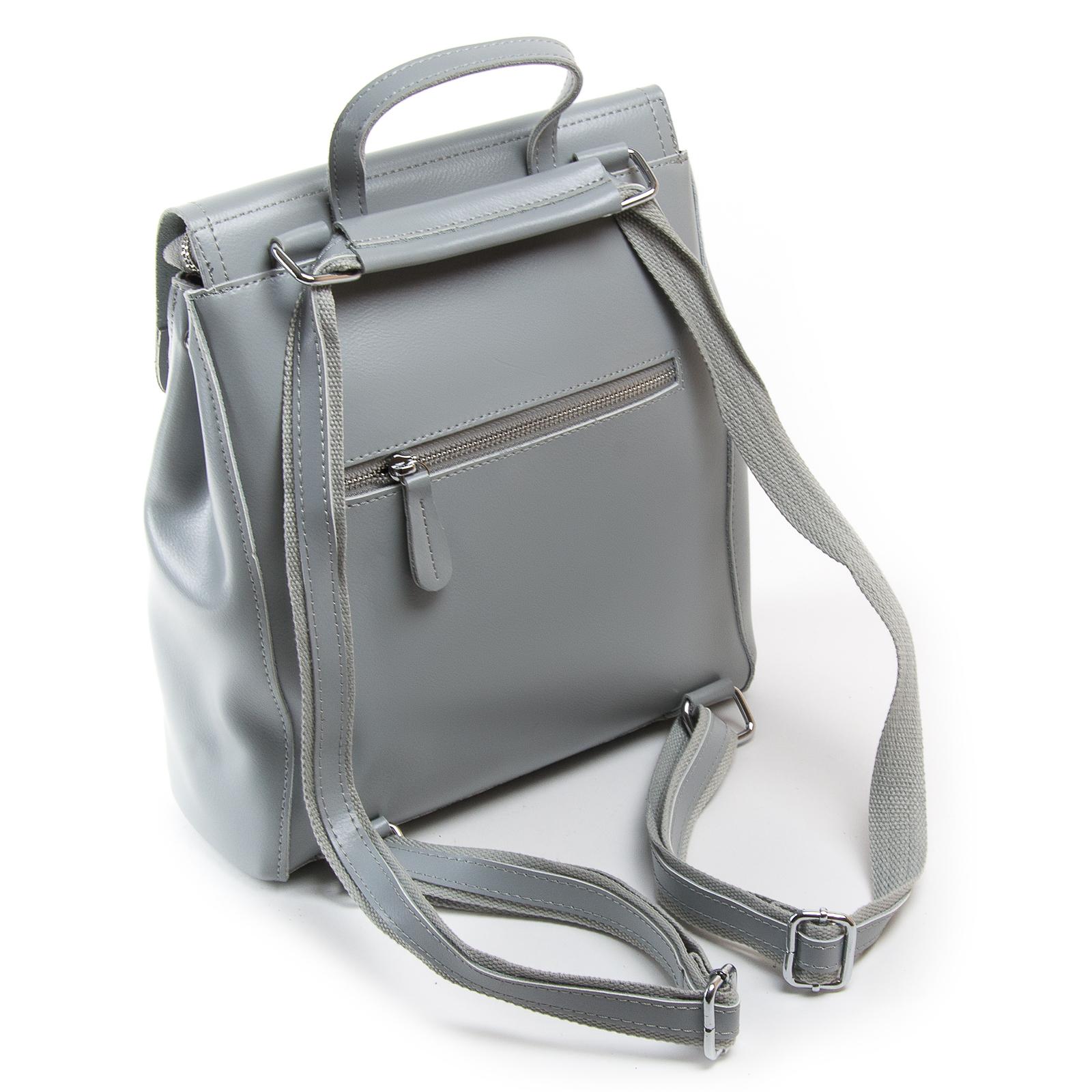 Сумка Женская Рюкзак кожа ALEX RAI 1005 l-grey - фото 4