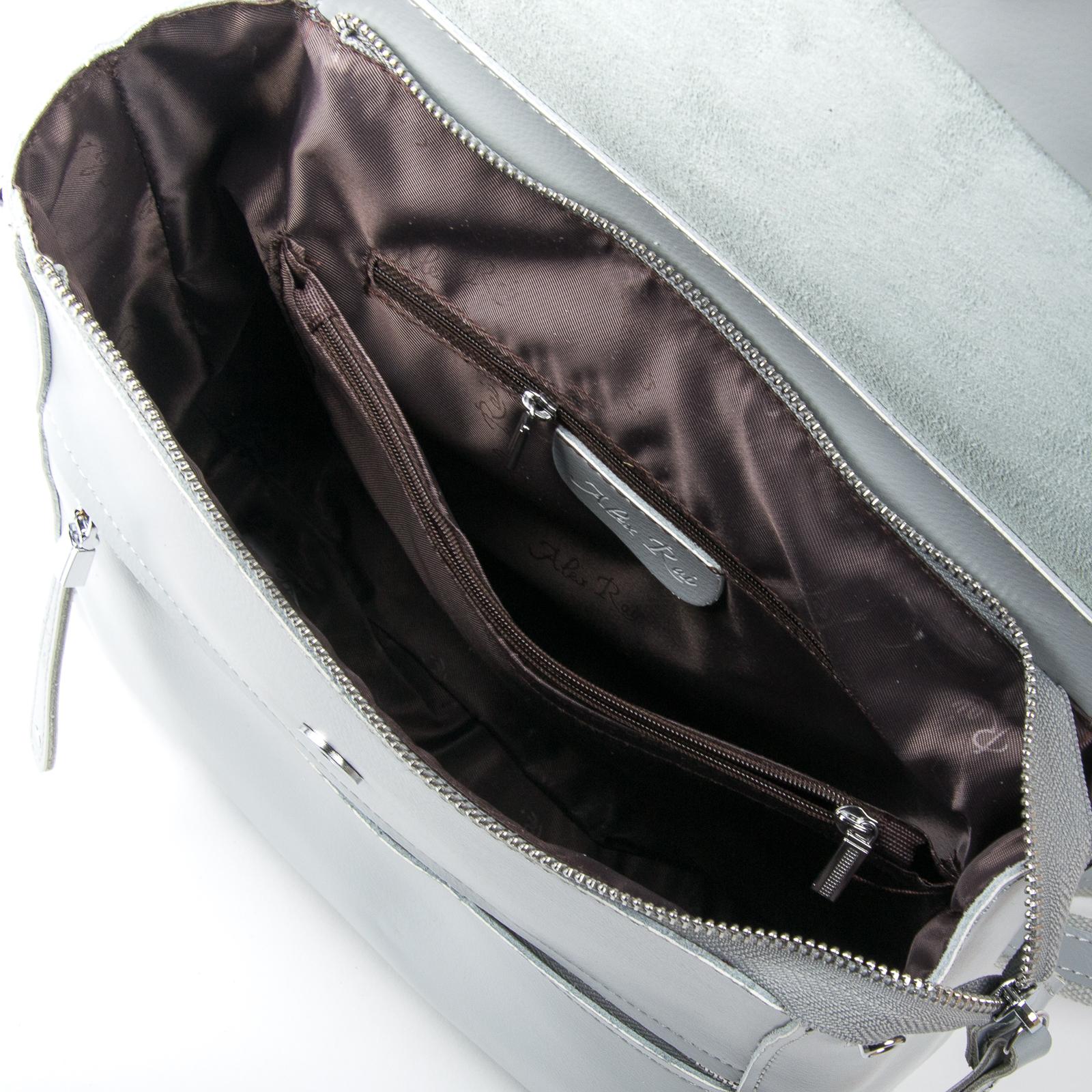 Сумка Женская Рюкзак кожа ALEX RAI 1005 l-grey - фото 5