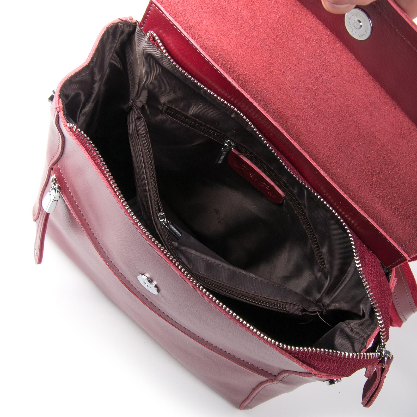 Сумка Женская Рюкзак кожа ALEX RAI 1005 l-red - фото 5