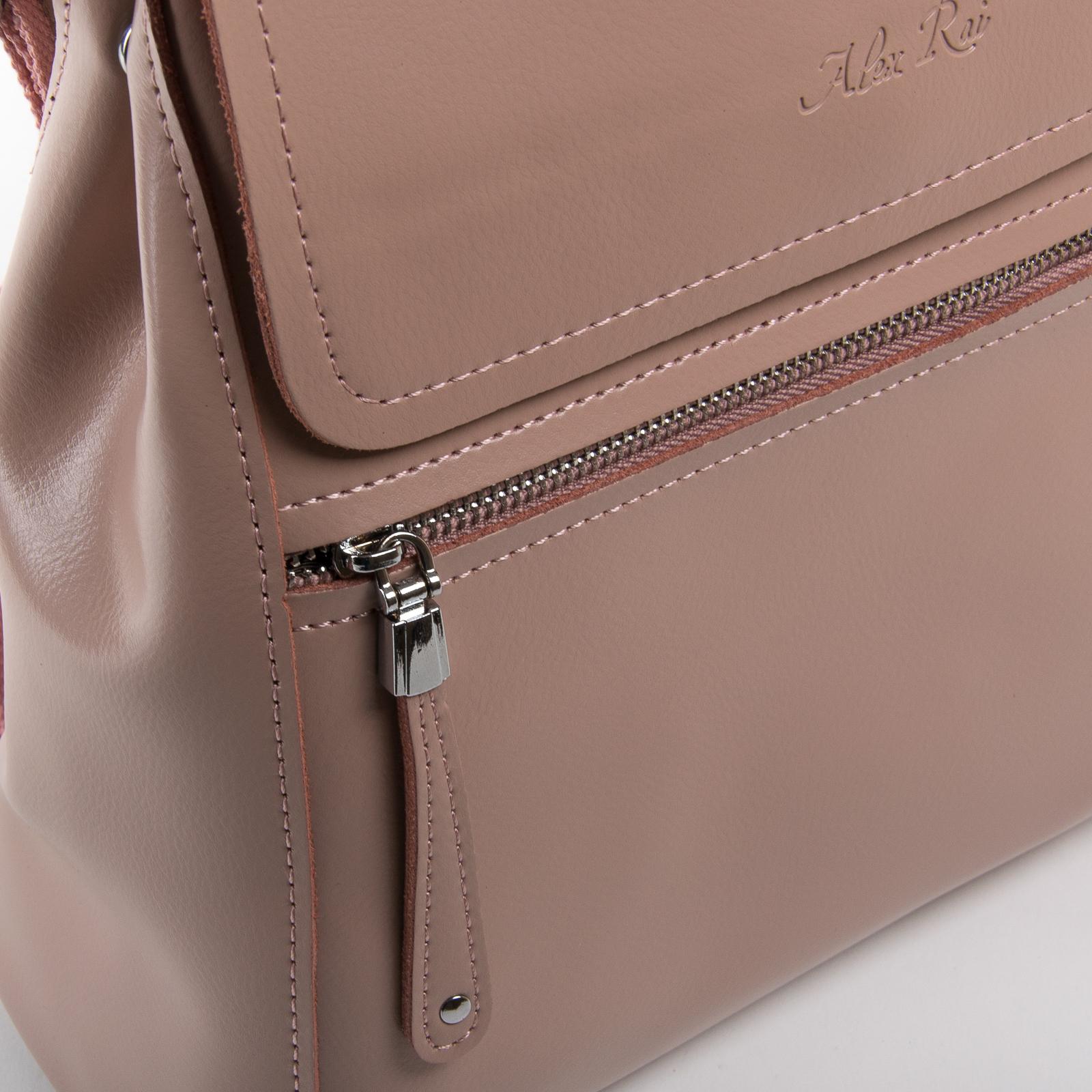 Сумка Женская Рюкзак кожа ALEX RAI 1005 l-rose - фото 3