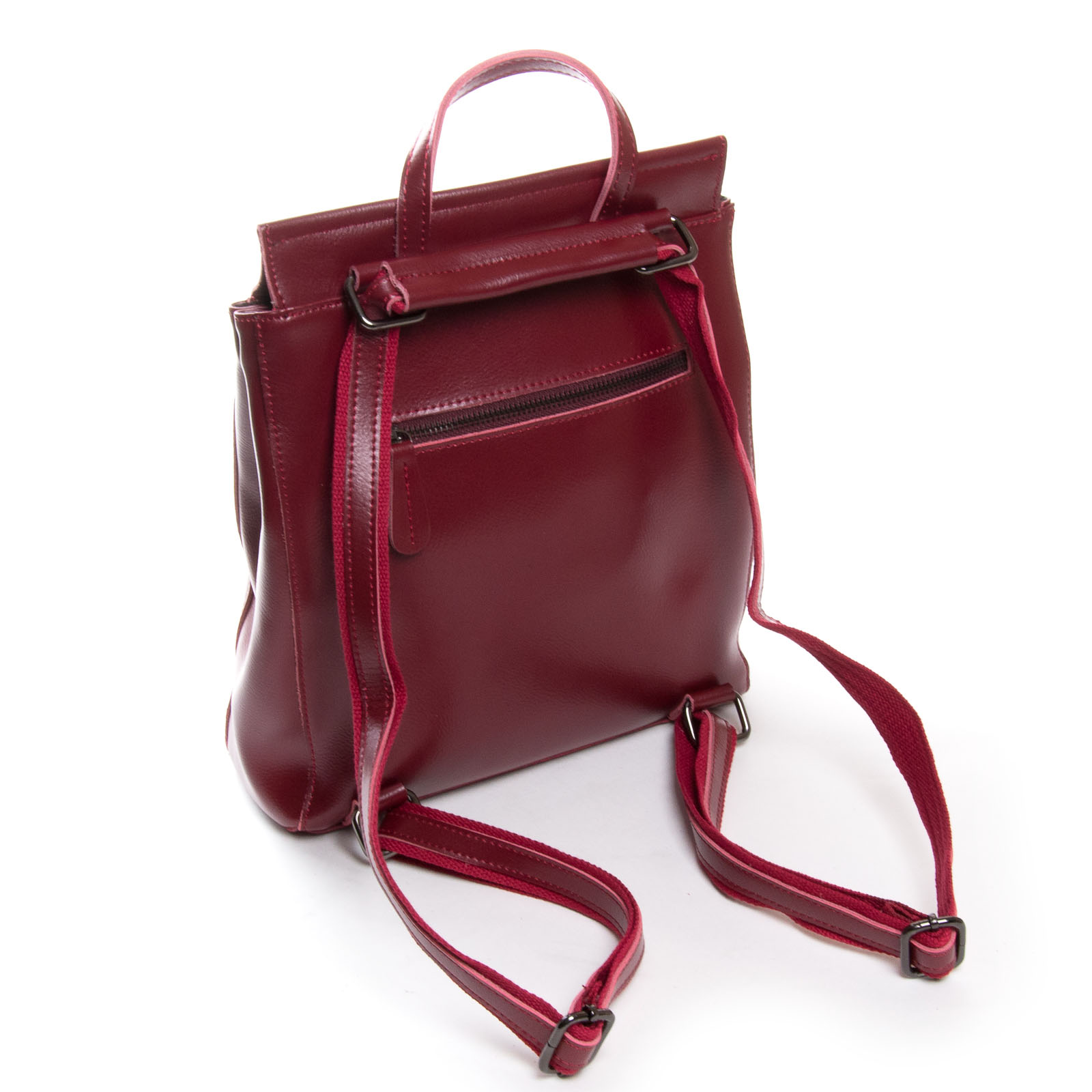 Сумка Женская Рюкзак кожа ALEX RAI 3206 l-red - фото 3