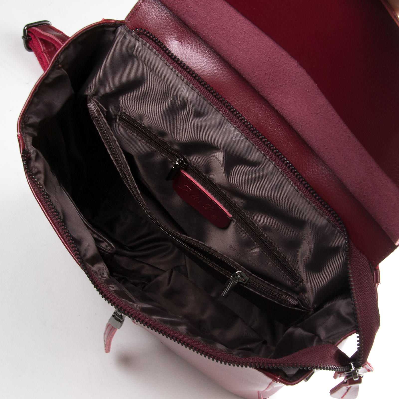 Сумка Женская Рюкзак кожа ALEX RAI 3206 l-red - фото 4