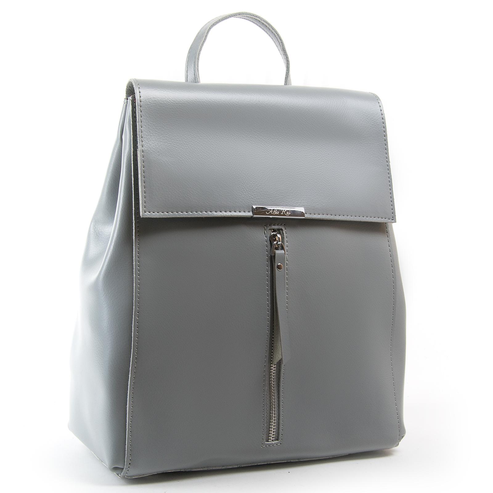 Сумка Женская Рюкзак кожа ALEX RAI 373 l-grey