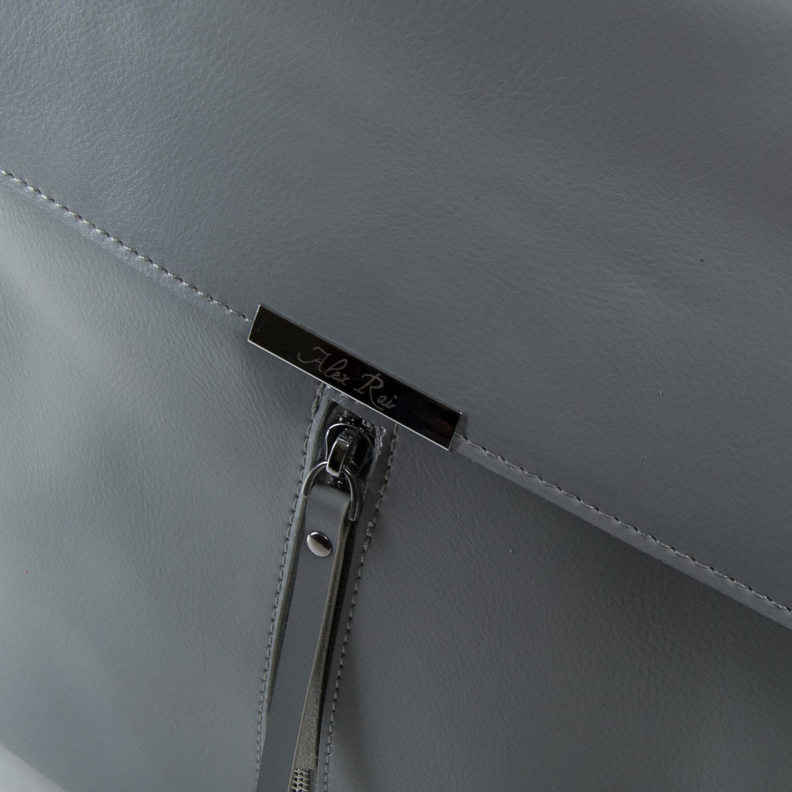 Сумка Женская Рюкзак кожа ALEX RAI 373 l-grey - фото 3