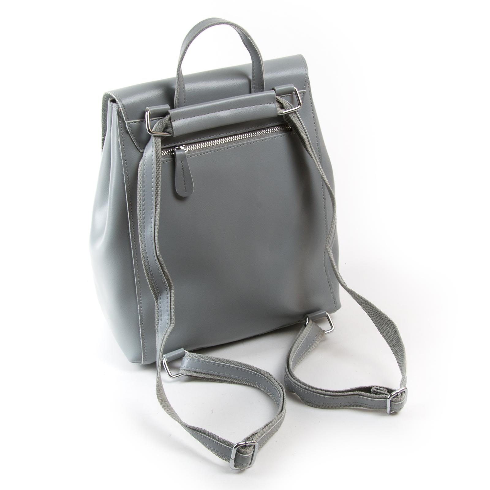 Сумка Женская Рюкзак кожа ALEX RAI 373 l-grey - фото 4