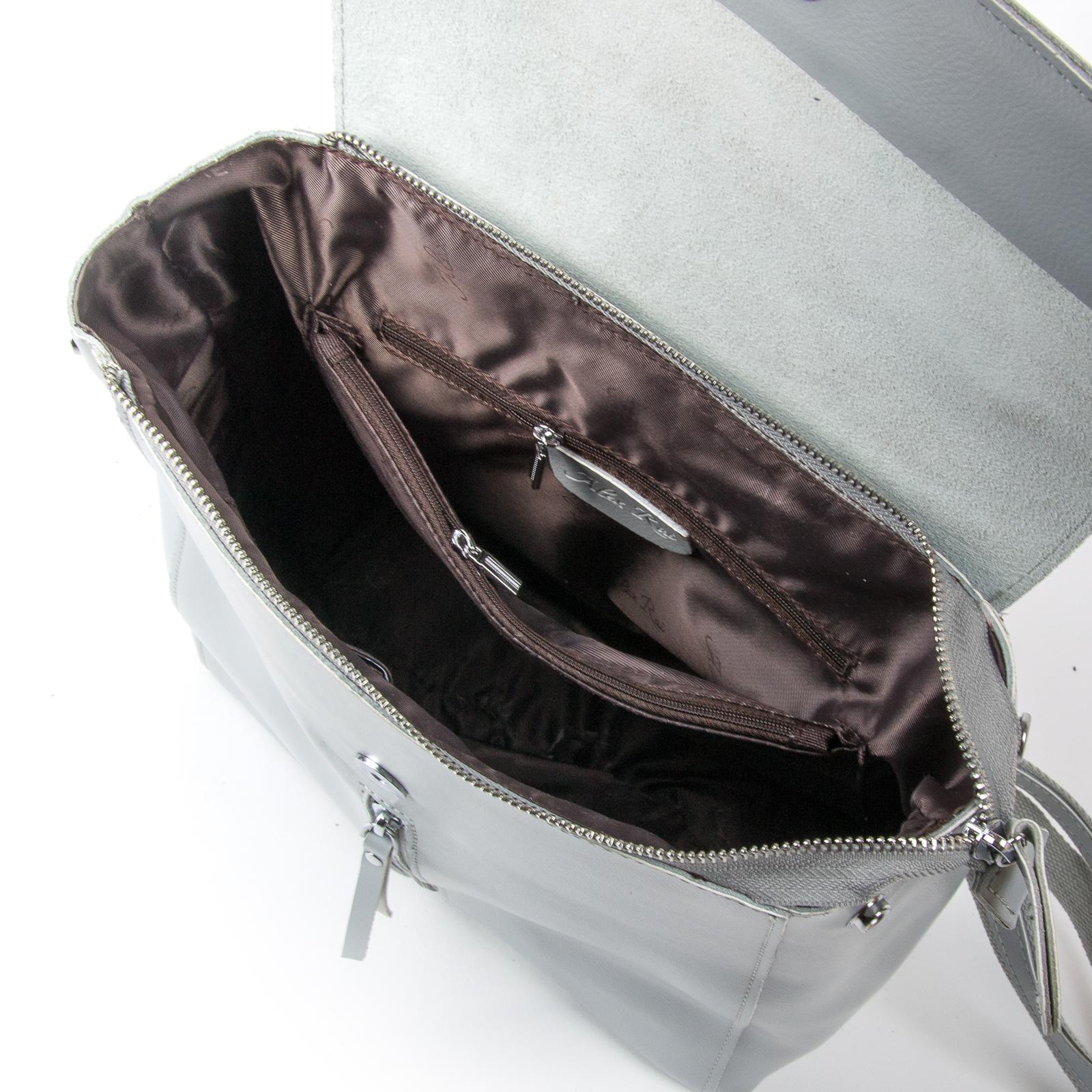 Сумка Женская Рюкзак кожа ALEX RAI 373 l-grey - фото 5