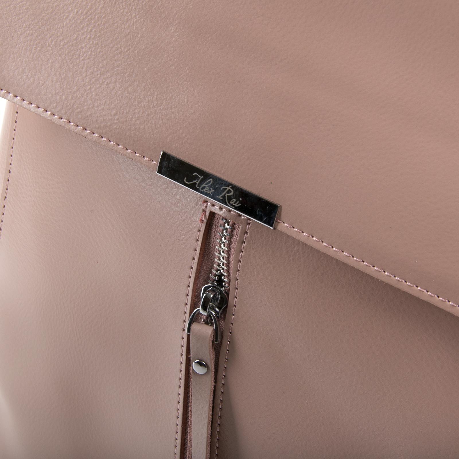 Сумка Женская Рюкзак кожа ALEX RAI 373 l-rose - фото 3