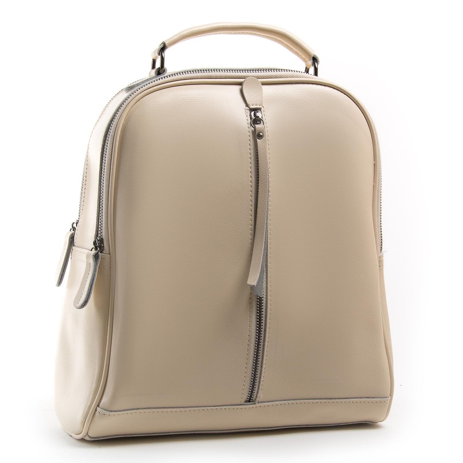 Сумка Женская Рюкзак кожа ALEX RAI 8694-3 beige