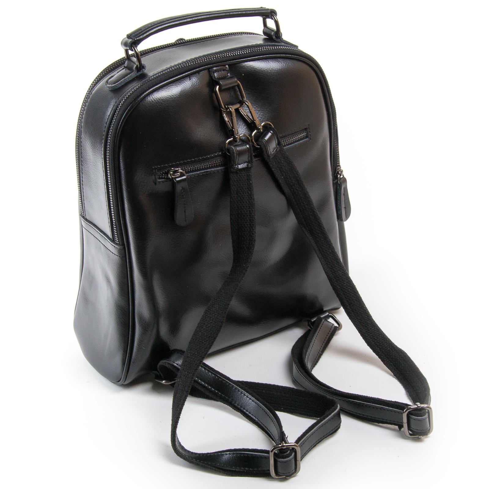 Сумка Женская Рюкзак кожа ALEX RAI 8694-3 black - фото 4