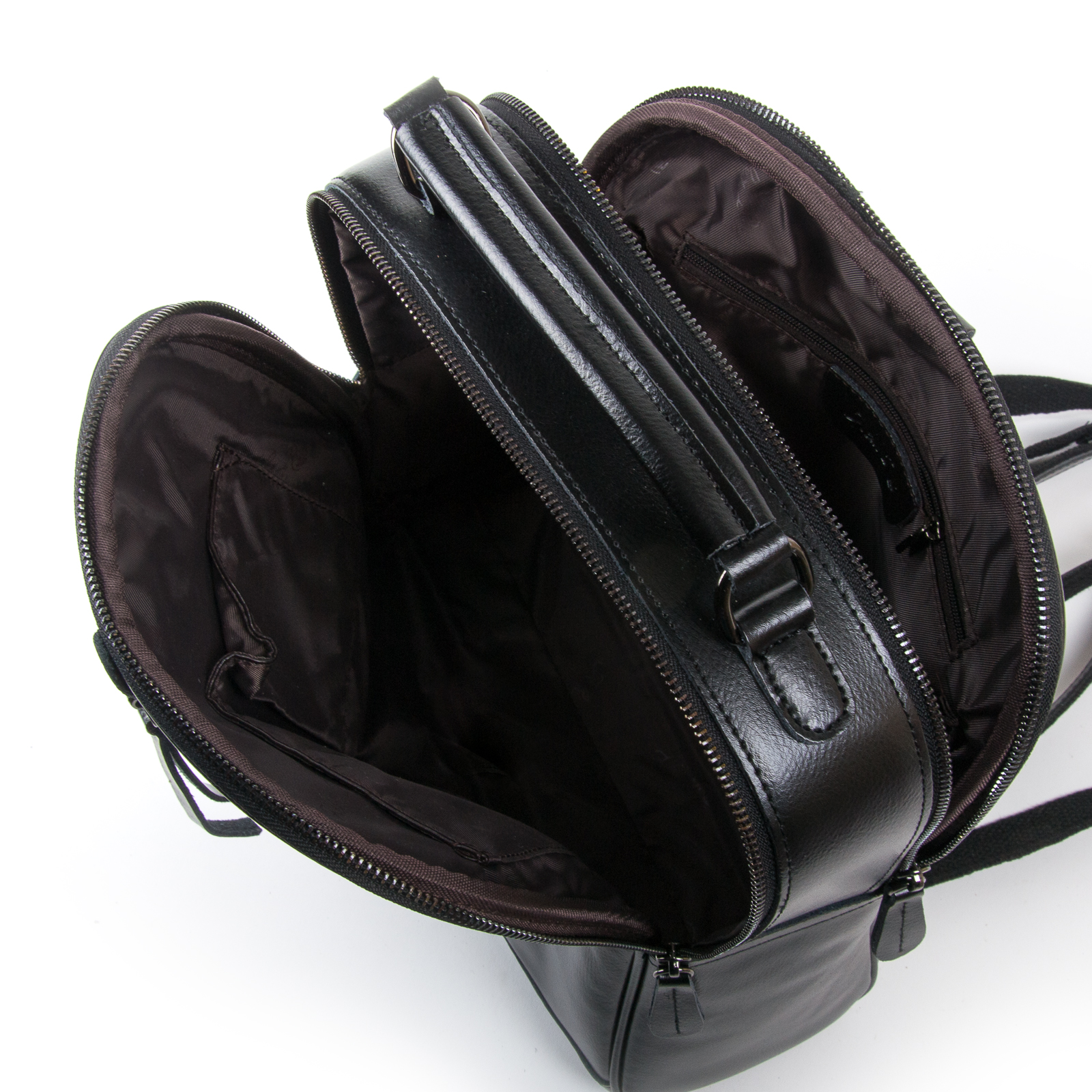 Сумка Женская Рюкзак кожа ALEX RAI 8694-3 black - фото 5