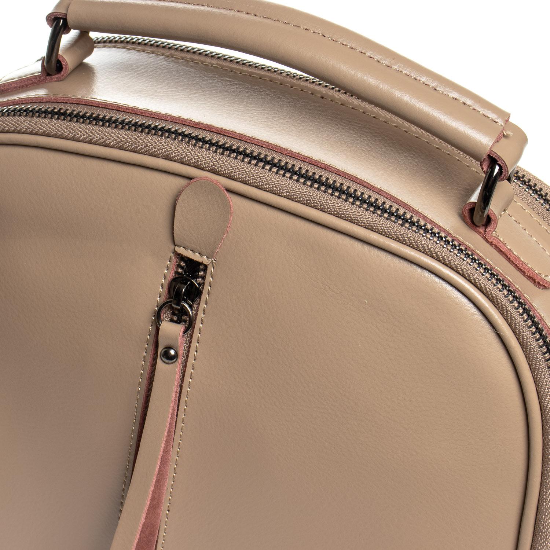 Сумка Женская Рюкзак кожа ALEX RAI 8694-3 khaki - фото 3