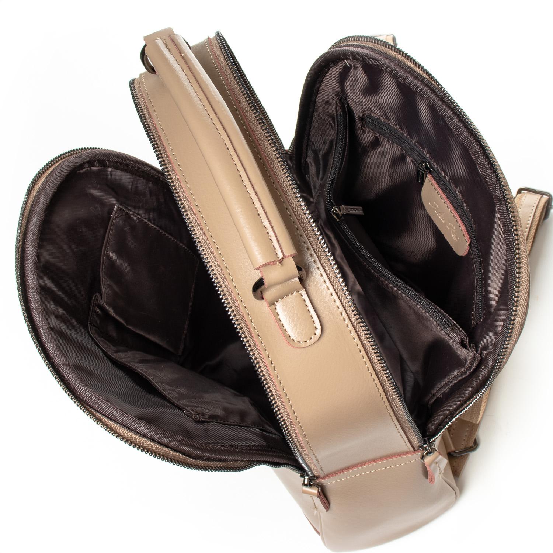 Сумка Женская Рюкзак кожа ALEX RAI 8694-3 khaki - фото 5