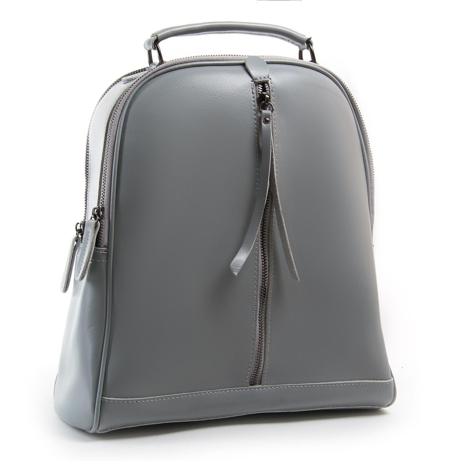 Сумка Женская Рюкзак кожа ALEX RAI 8694-3 l-grey