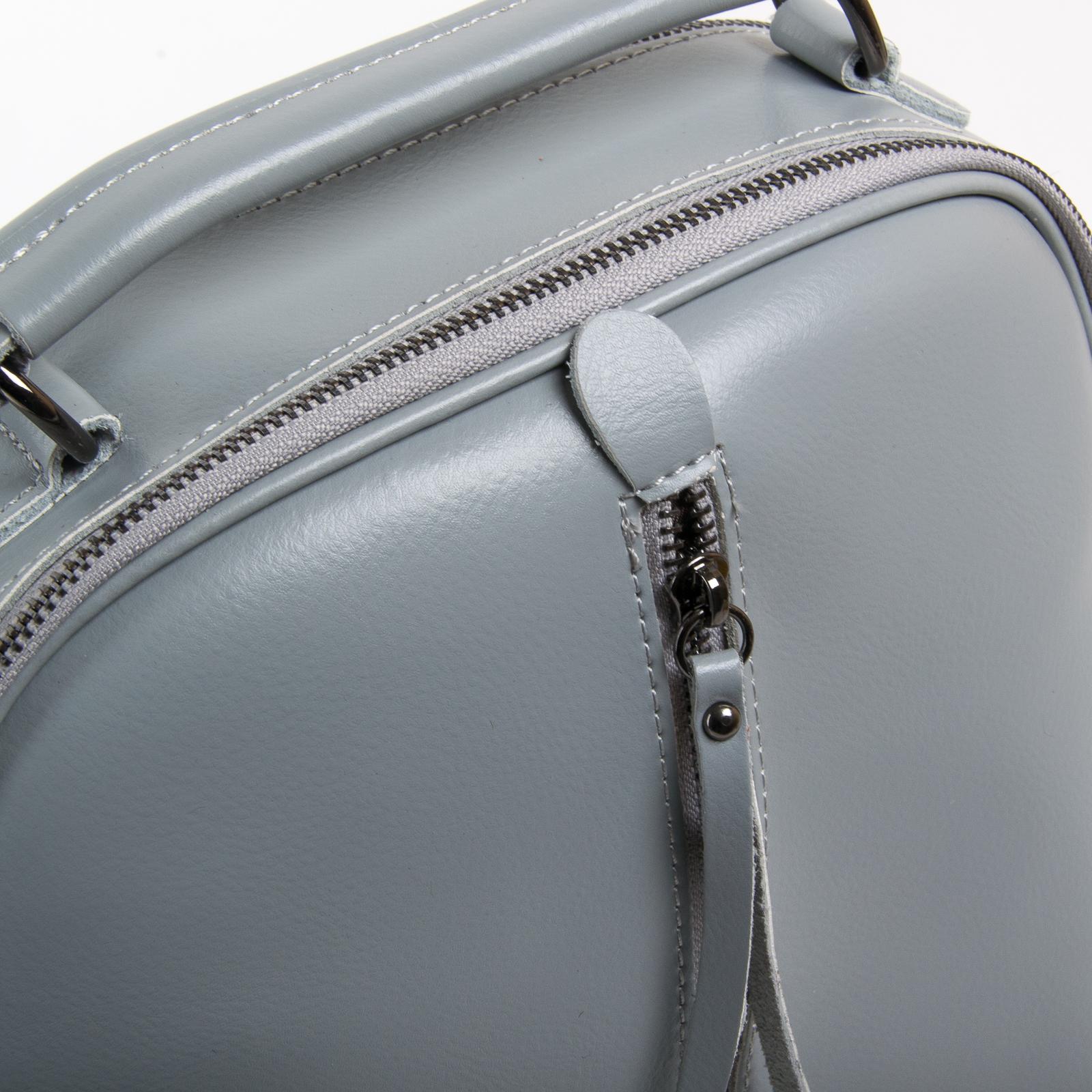 Сумка Женская Рюкзак кожа ALEX RAI 8694-3 l-grey - фото 3