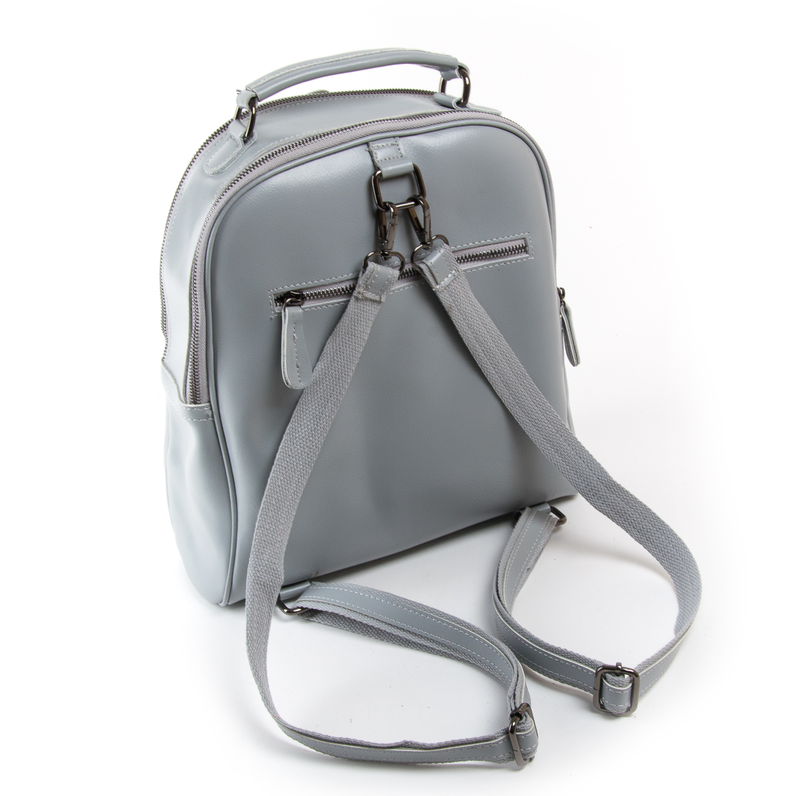 Сумка Женская Рюкзак кожа ALEX RAI 8694-3 l-grey - фото 4