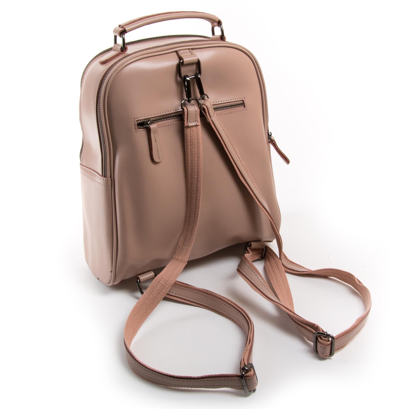 Сумка Женская Рюкзак кожа ALEX RAI 8694-3 pink - фото 4