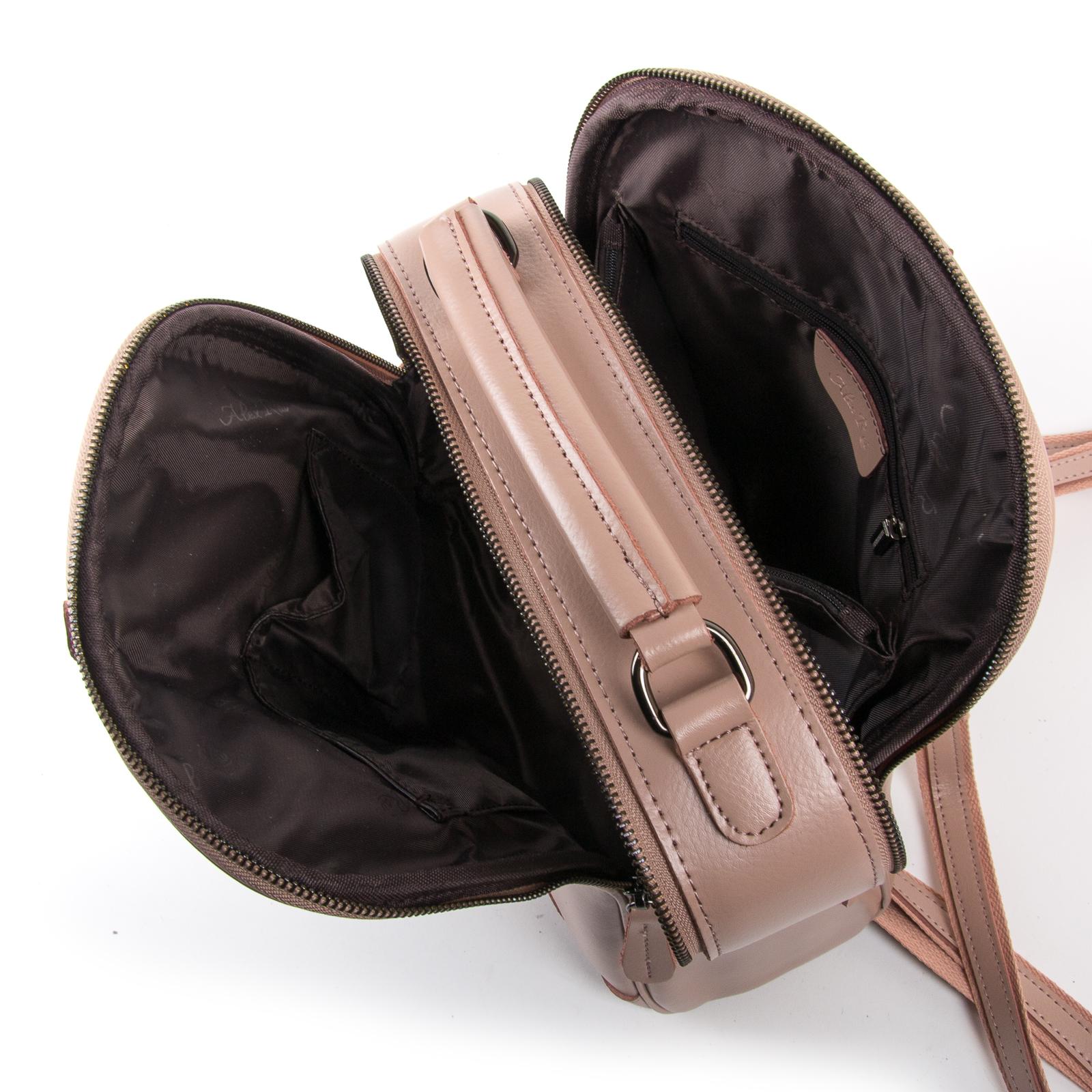 Сумка Женская Рюкзак кожа ALEX RAI 8694-3 pink - фото 5