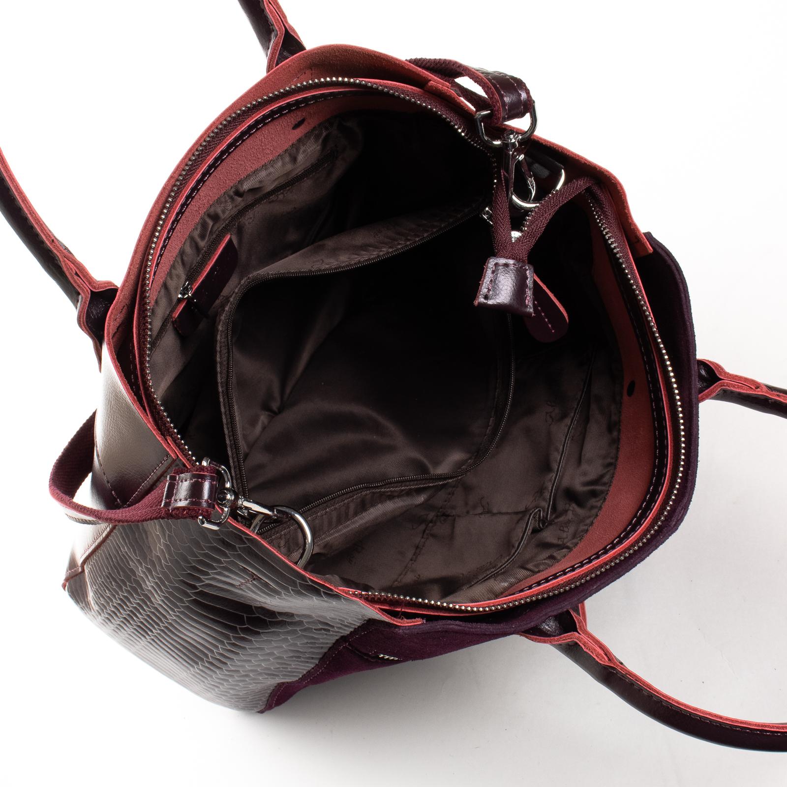 Сумка Женская Классическая замш ALEX RAI 01-09 01-8713-11 wine-red - фото 5