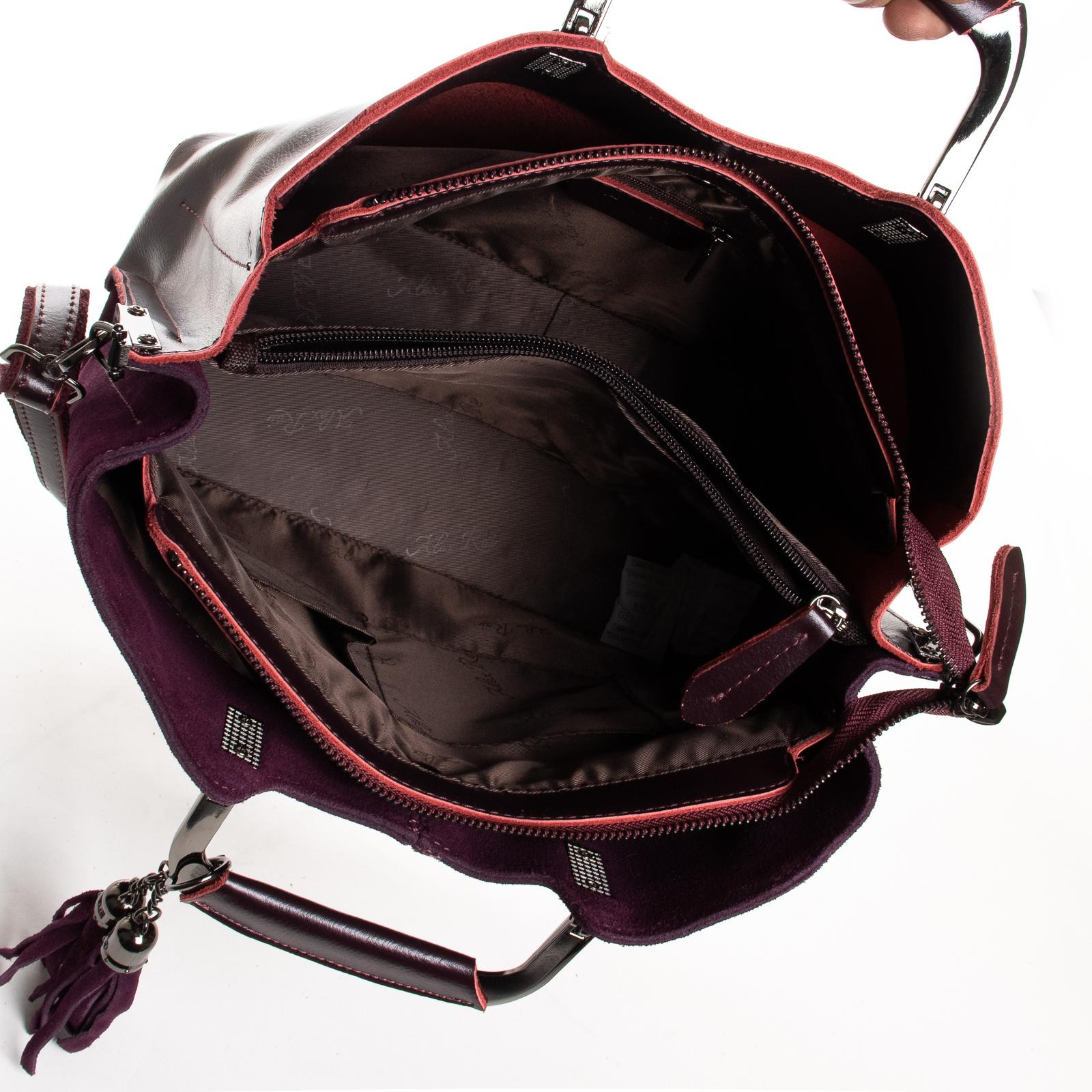 Сумка Женская Классическая замш ALEX RAI 01-09 02-1540-2 wine-red - фото 5
