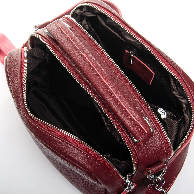 Сумка Женская Классическая кожа ALEX RAI 02-09 12-8731-9 wine-red - фото 5