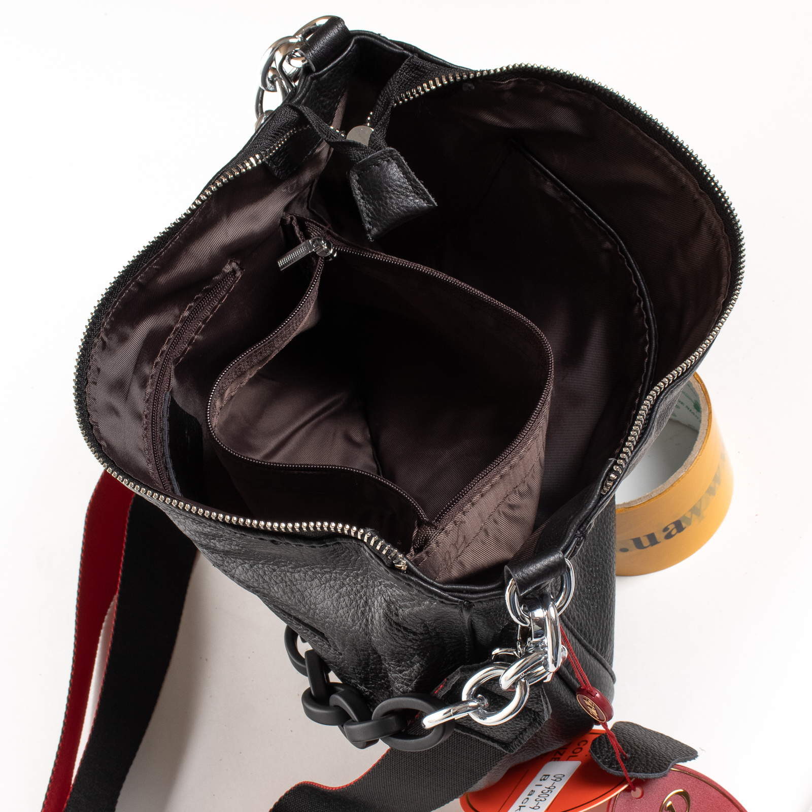 Сумка Женская Классическая кожа ALEX RAI 02-09 9503-9 black - фото 5