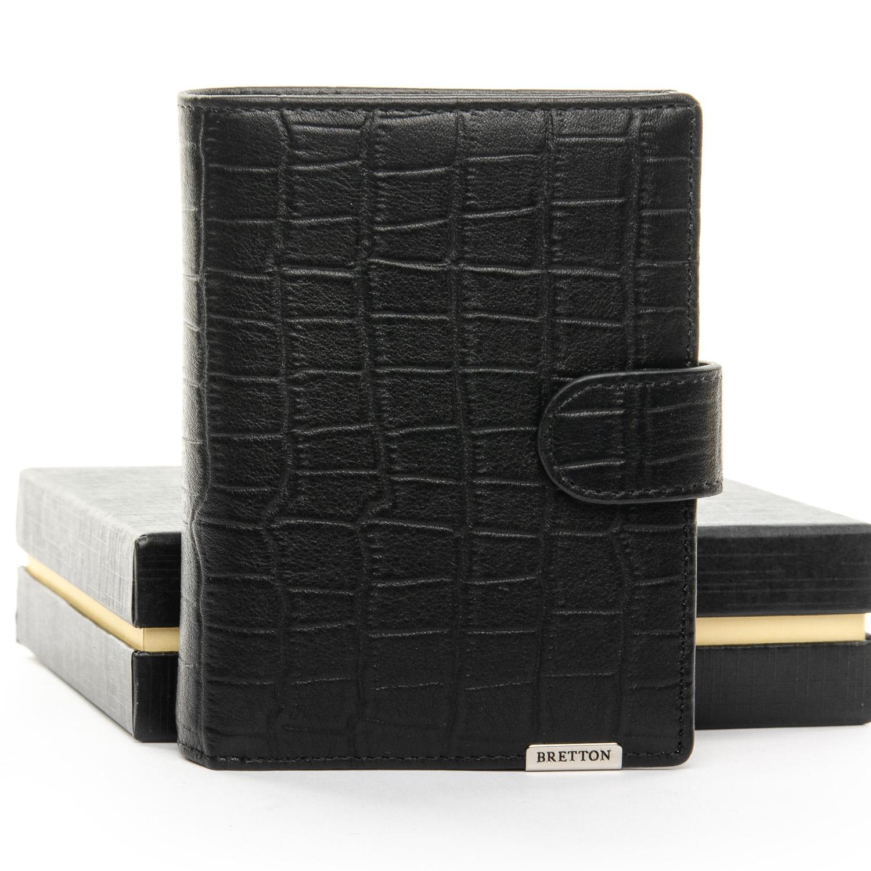 Кошелек Crocodile кожа BRETTON M4753 black