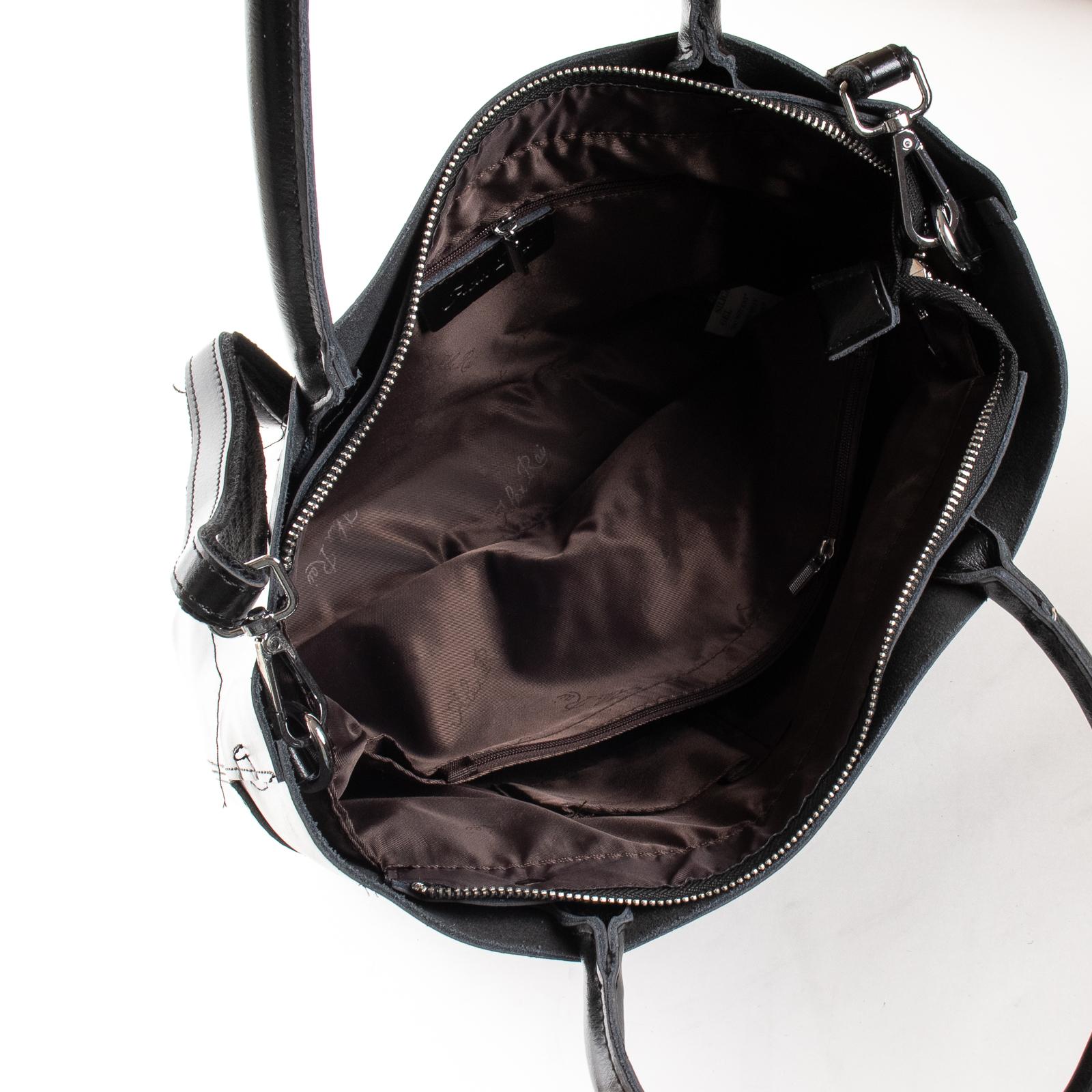 Сумка Женская Классическая кожа ALEX RAI 03-09 13-9505 black - фото 5