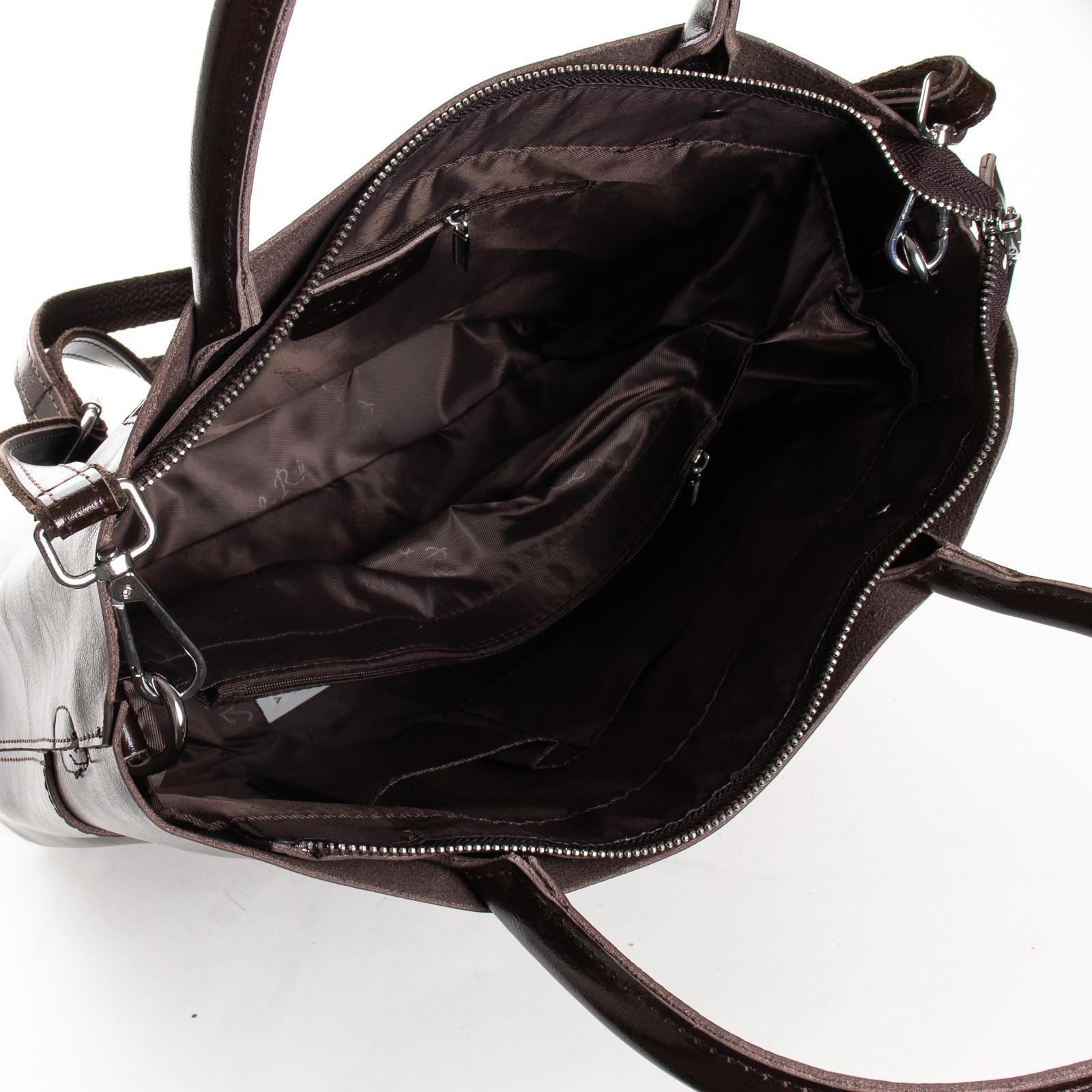 Сумка Женская Классическая кожа ALEX RAI 03-09 13-9505 brown - фото 5