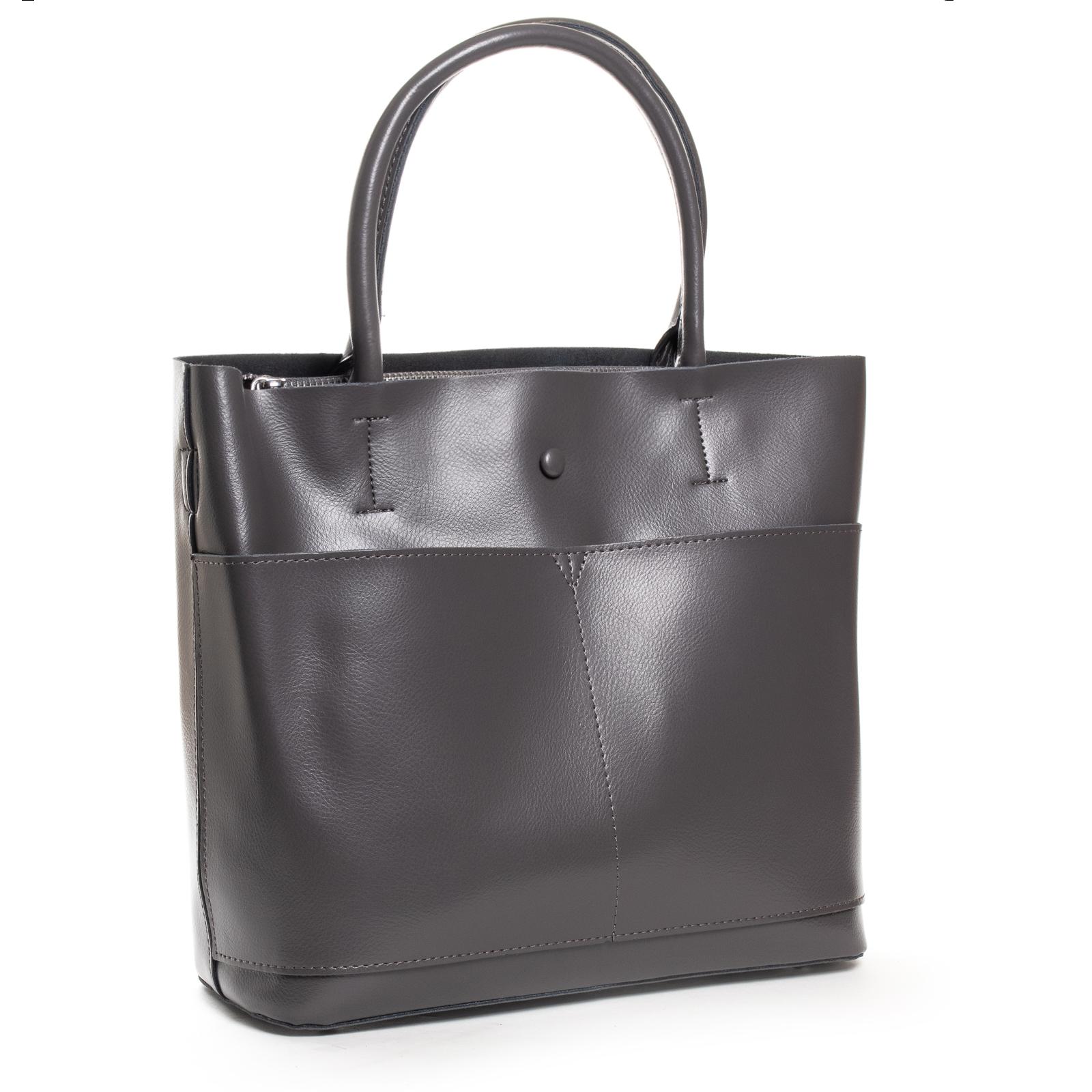 Сумка Женская Классическая кожа ALEX RAI 03-09 13-9505 grey