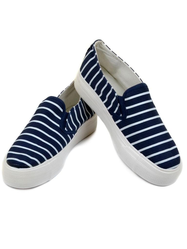 Обувь Женская  Слипоны G1213-7 blue 40(р)